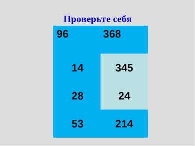 Проверьте себя 96 14 28 53 368 345 24 214