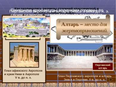 Пергамский акрополь и алтарь Зевса II века до н. э. Алтарь – место для жертво...