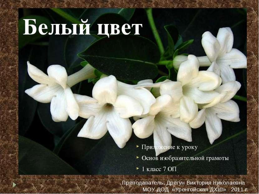 Белый цвет Приложение к уроку Основ изобразительной грамоты 1 класс 7 ОП Преп...