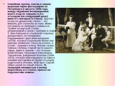 Семейная группа, снятая в нашем вырском парке фотографом из Петербурга в авгу...