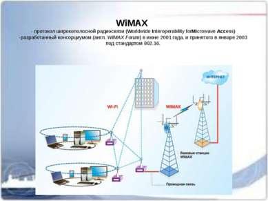 WiMAX - протокол широкополосной радиосвязи (WorldwideInteroperability forMi...