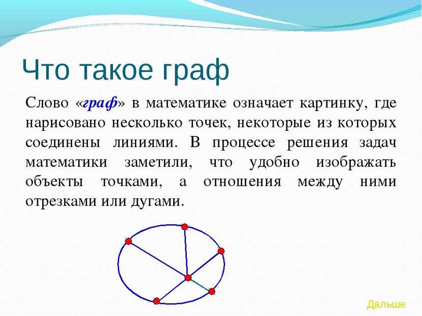 Что такое граф Слово «граф» в математике означает картинку, где нарисовано не...