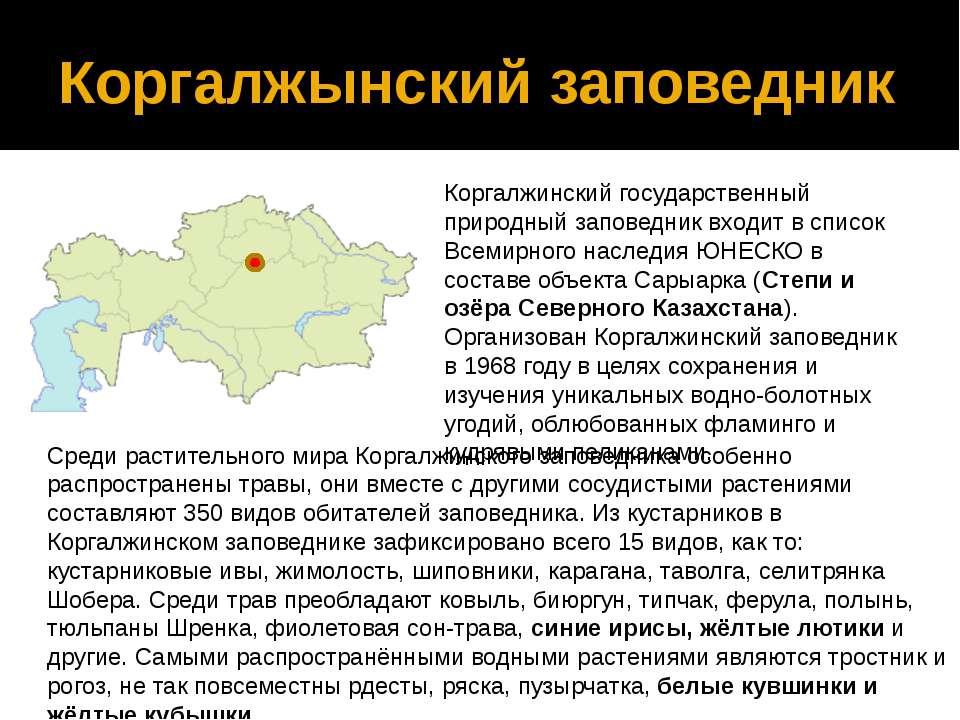 Коргалжынский заповедник Коргалжинский государственный природный заповедник в...