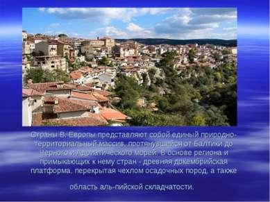 Страны В. Европы представляют собой единый природно-территориальный массив, п...