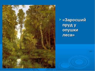 «Заросший пруд у опушки леса»