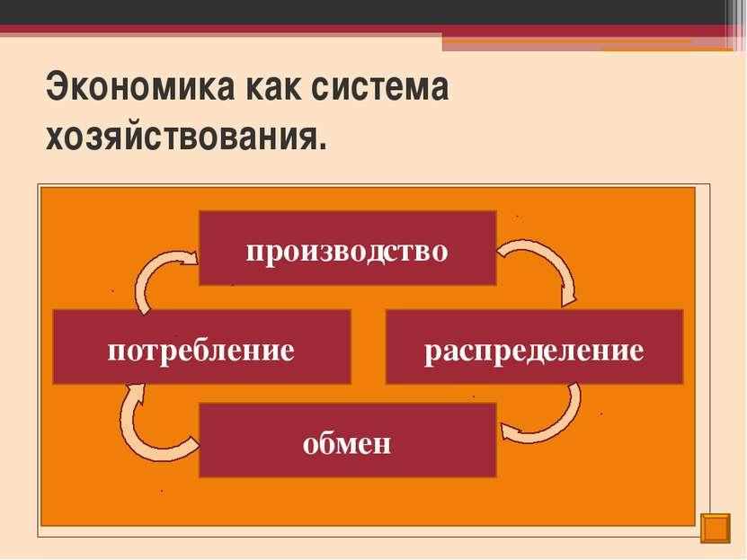 Экономика как система хозяйствования. Экономическая деятельность – это произв...