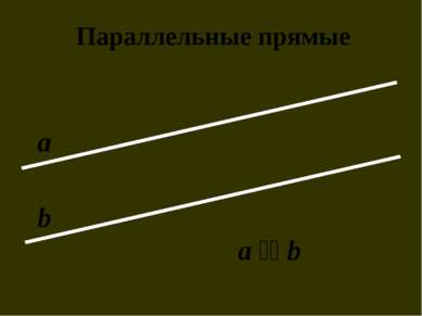 Параллельные прямые а b a ׀׀ b