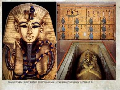 Таким методом узнают возраст египетских мумий, остатков доисторических костро...