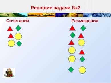 Решение задачи №2 Сочетания Размещения