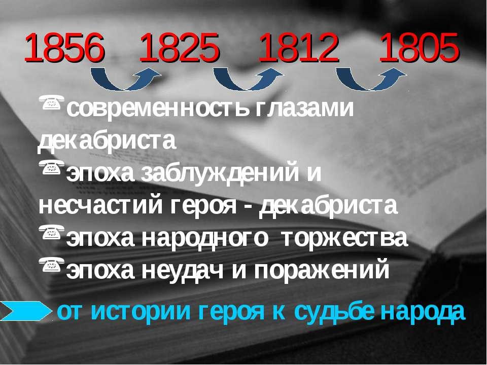 1856 современность глазами декабриста эпоха заблуждений и несчастий героя - д...