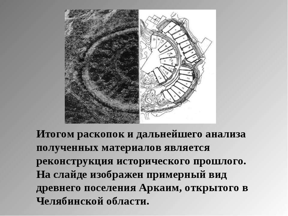Итогом раскопок и дальнейшего анализа полученных материалов является реконстр...