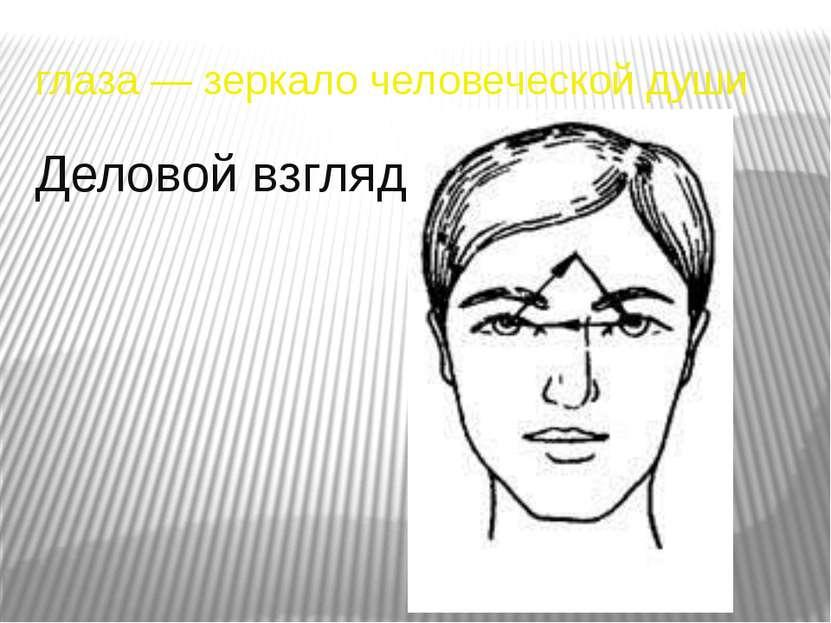 глаза — зеркало человеческой души Деловой взгляд