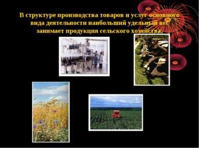 В структуре производства товаров и услуг основного вида деятельности наибольш...