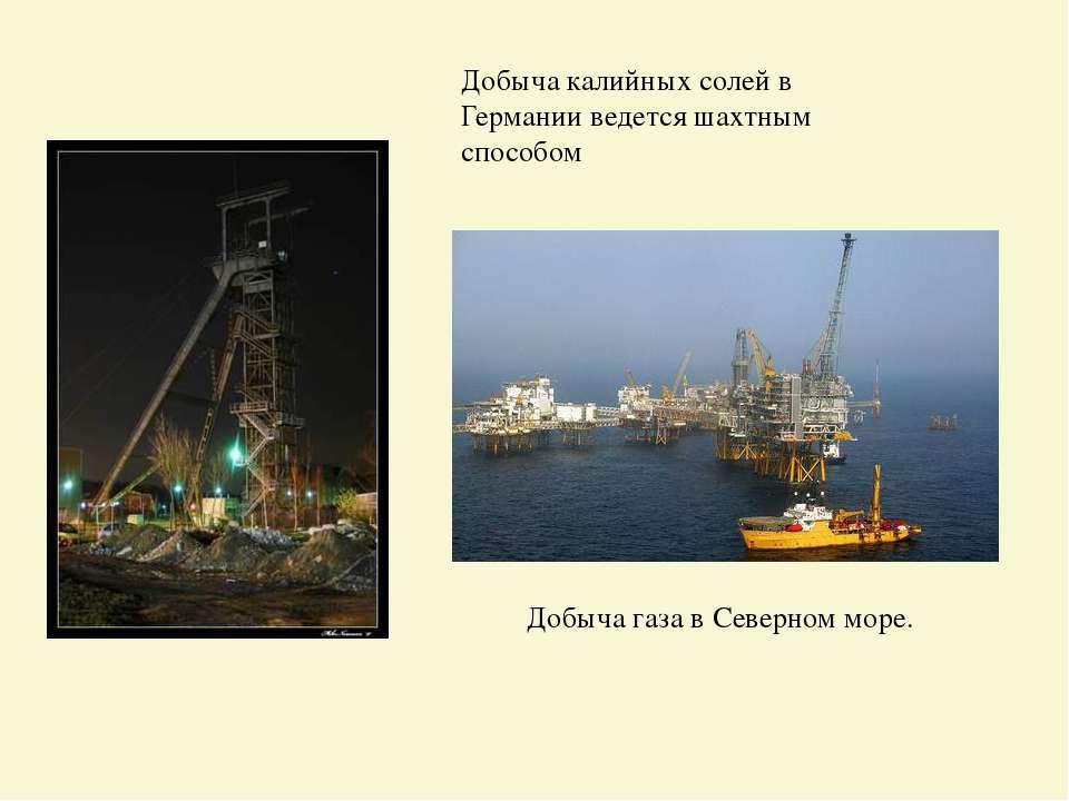 Добыча калийных солей в Германии ведется шахтным способом ДобычагазавСевер...