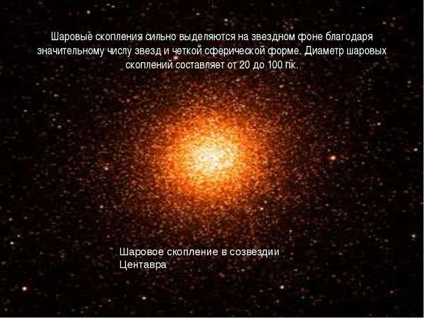 Шаровые скопления сильно выделяются на звездном фоне благодаря значительному ...