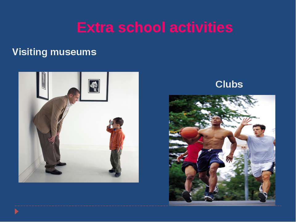 Покотило Р. В. ГОУ СОШ 1200 ВАО Extra school activities Visiting museums Clubs