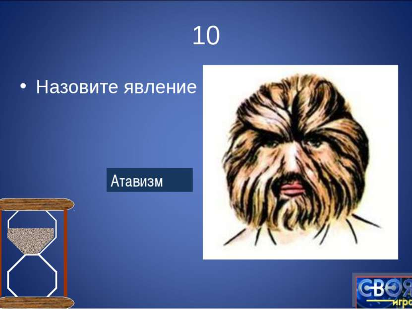 10 Назовите явление Атавизм