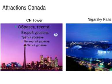 Attractions Canada CN Tower Nigarsky Falls