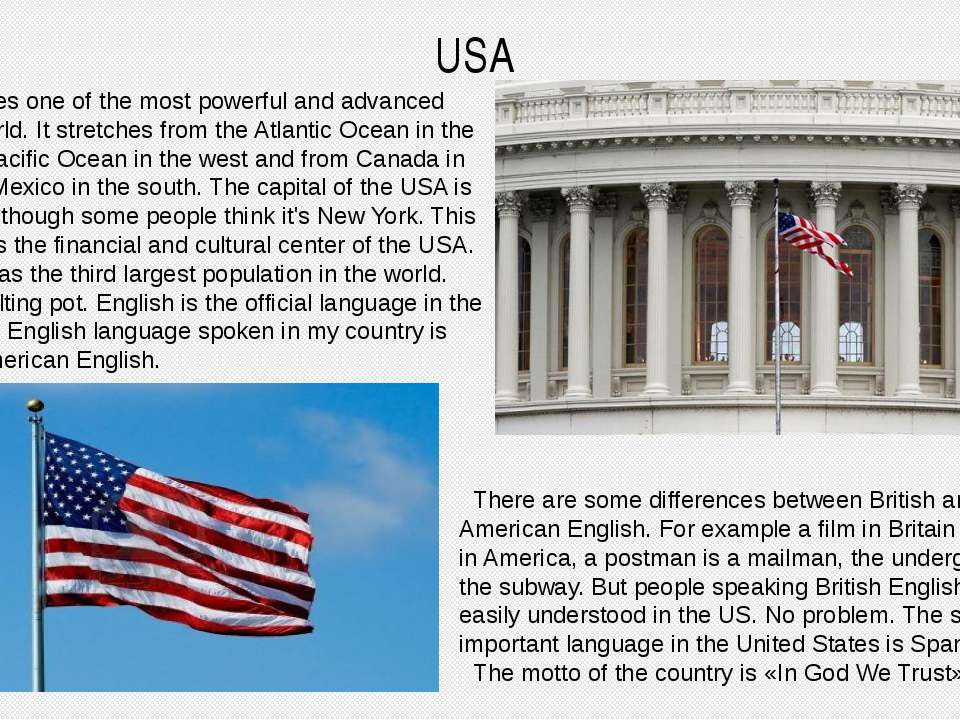 USA United States one of the most powerful and advanced countries world. It s...