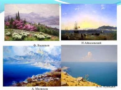 А. И. Куинджи И.Айвазовский Ф. Васильев А. Милюков