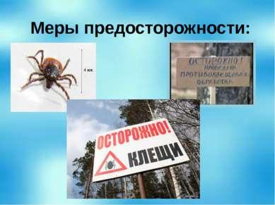 Меры предосторожности: