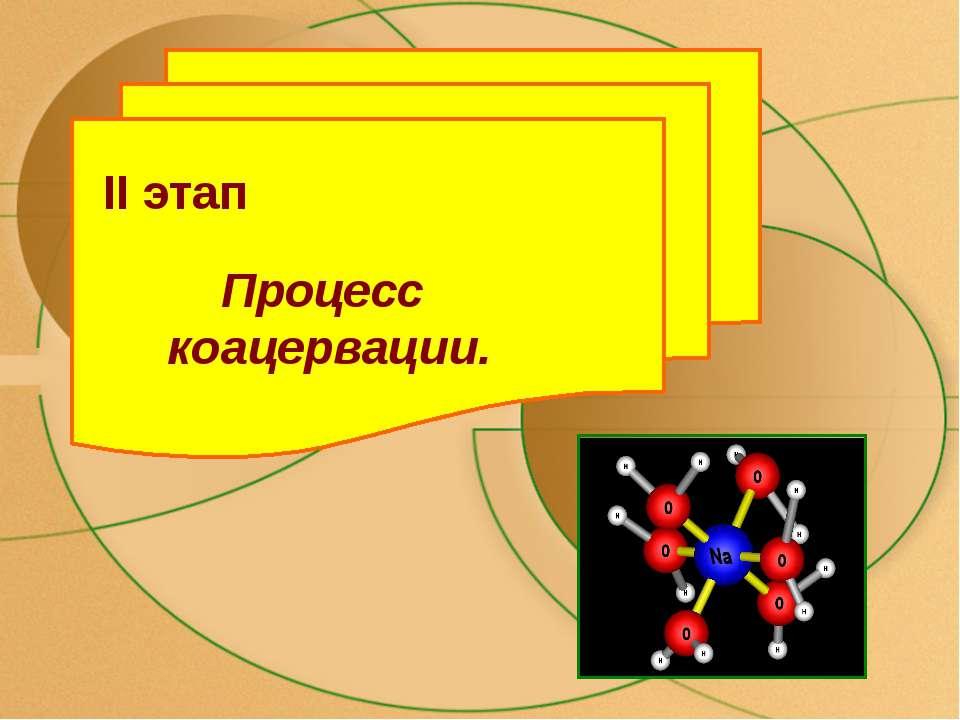 II этап Процесс коацервации.
