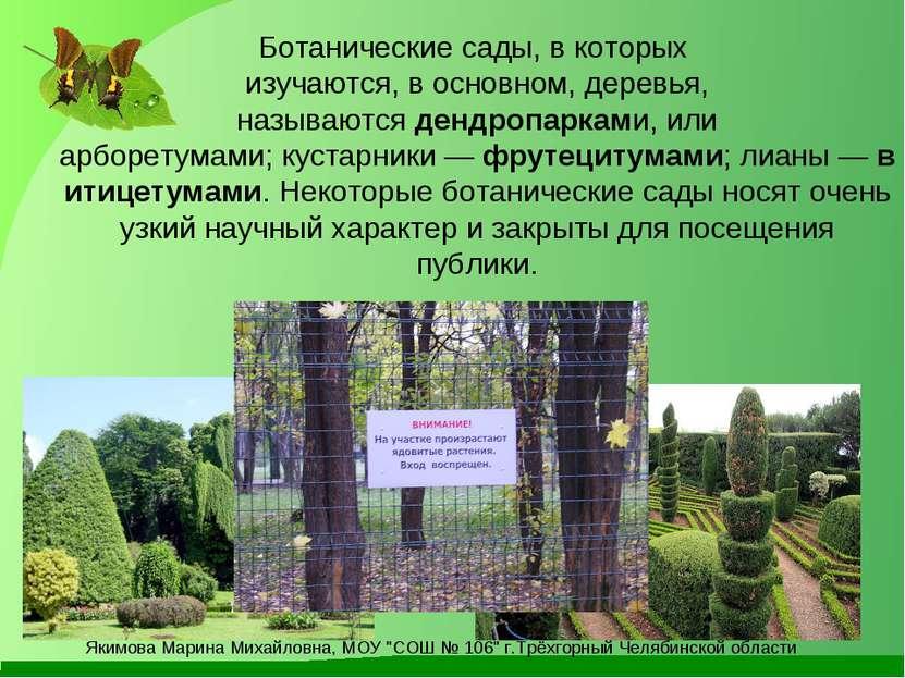 Ботанические сады, в которых изучаются, в основном, деревья, называютсядендр...