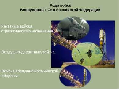 Войска воздушно-космической обороны Ракетные войска стратегического назначени...