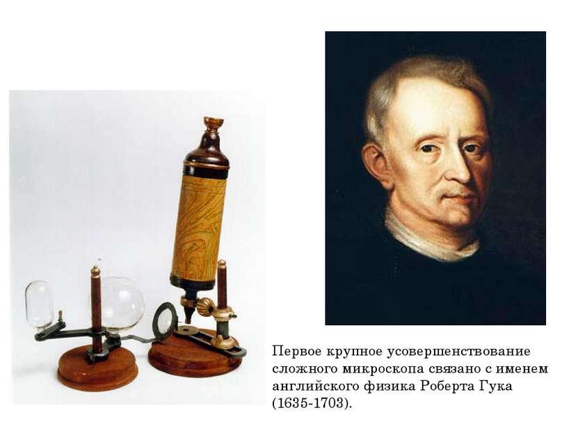 Первое крупное усовершенствование сложного микроскопа связано с именем англий...