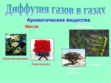 Ароматические вещества Масла Смолы Лепестки жасмина Лепестки роз Мирра Ладанн...