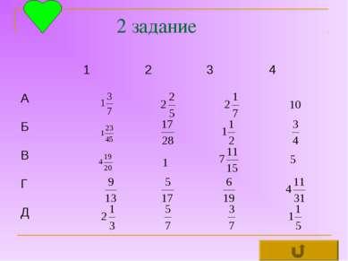2 задание 1 2 3 4 А Б В Г Д