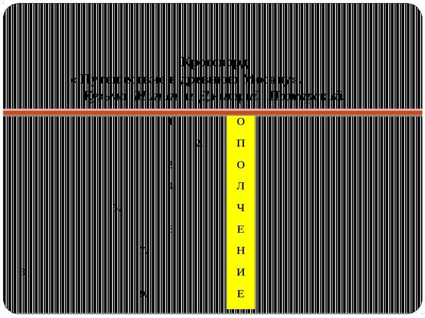 Кроссворд « Путешествие в древнюю Москву». Кузьма Минин и Дмитрий Пожарский. ...