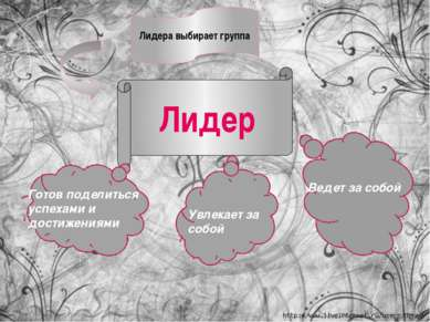 Лидер Лидера выбирает группа Готов поделиться успехами и достижениями Увлекае...