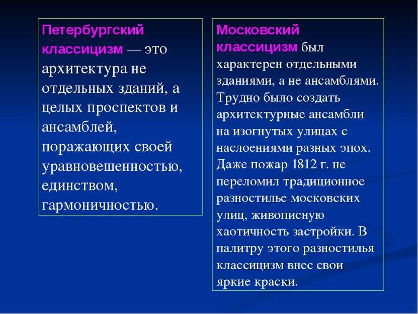 Петербургский классицизм — это архитектура не отдельных зданий, а целых просп...