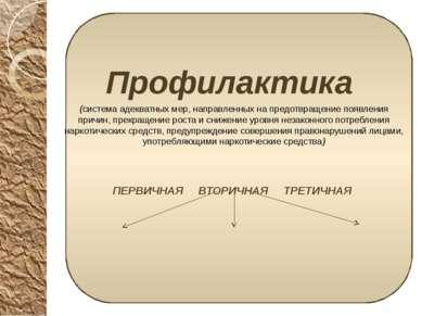 Профилактика Профилактика (система адекватных мер, направленных на предотвращ...