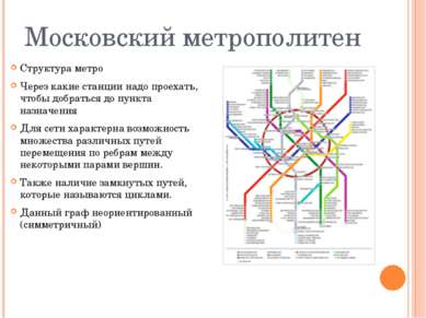 Московский метрополитен Структура метро Через какие станции надо проехать, чт...