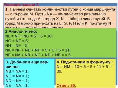 3). На ри сун ке изоб ра же на схема до ро г, свя зы ва ю щих го ро да A, B, ...