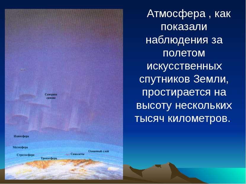 Атмосфера , как показали наблюдения за полетом искусственных спутников Земли,...
