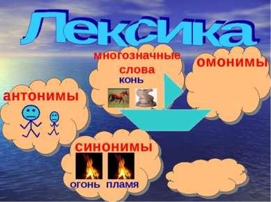 многозначные слова омонимы антонимы