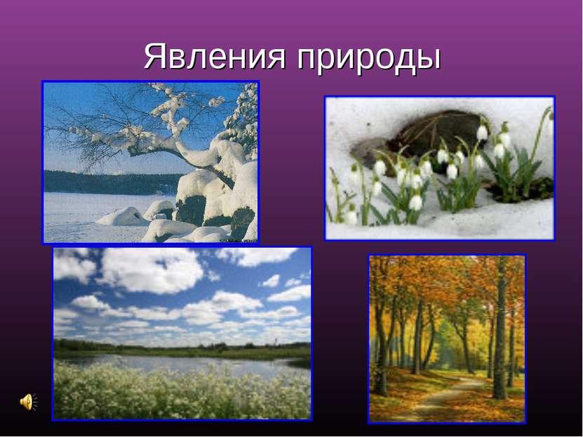 Явления природы