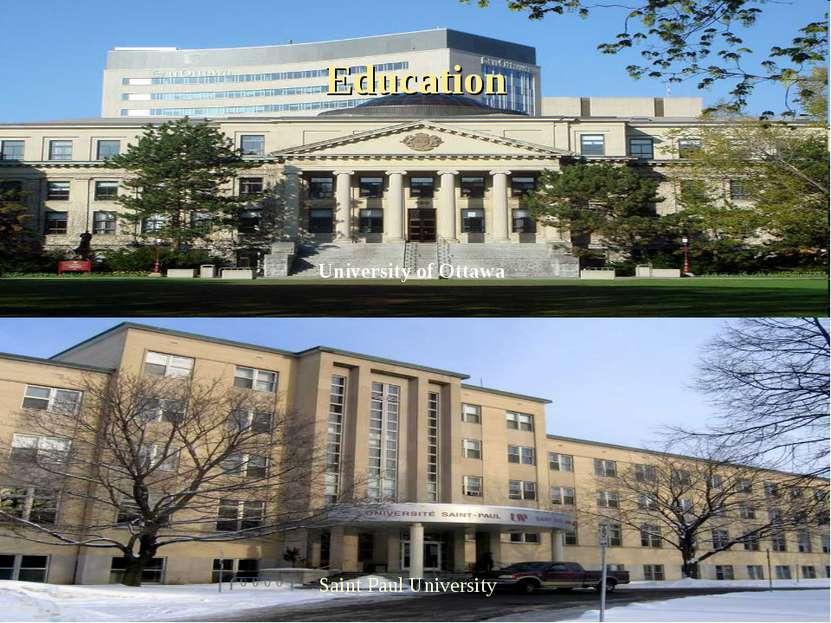 Education University of Ottawa Saint Paul University