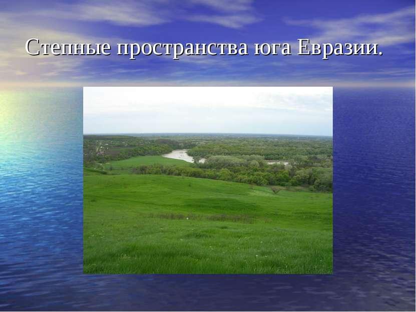 Степные пространства юга Евразии.
