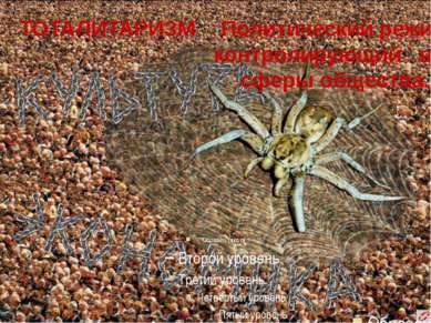 ТОТАЛИТАРИЗМ Политический режим, контролирующий все сферы общества.
