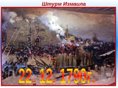 Штурм Измаила Штурм Измаила— осада и штурм в 1790 году турецкой крепости Изм...