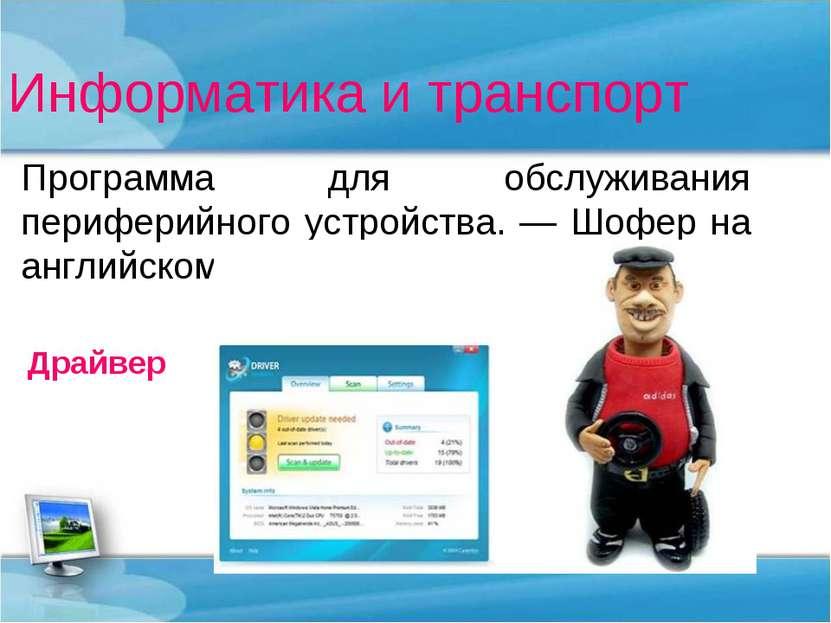 Информатика и транспорт Программа для обслуживания периферийного устройства. ...