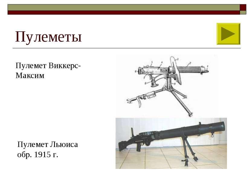Пулеметы Пулемет Виккерс-Максим Пулемет Льюиса обр. 1915 г.