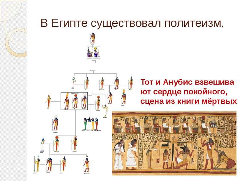 В Египте существовал политеизм. ТотиАнубисвзвешивают сердце покойного, сце...