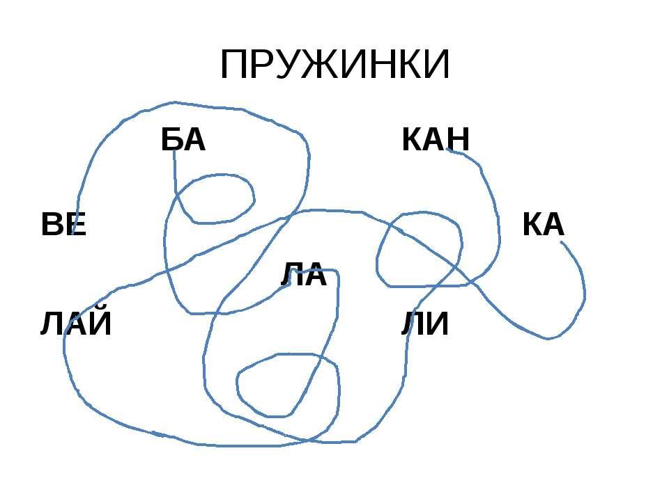 ПРУЖИНКИ БА КАН ВЕ КА ЛА ЛАЙ ЛИ