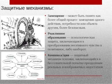 Защитные механизмы: Замещение—может быть понято как более общий процесс заме...