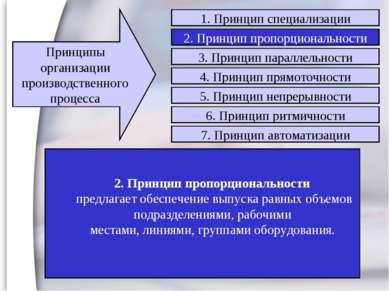 2. Принцип пропорциональности предлагает обеспечение выпуска равных объемов п...